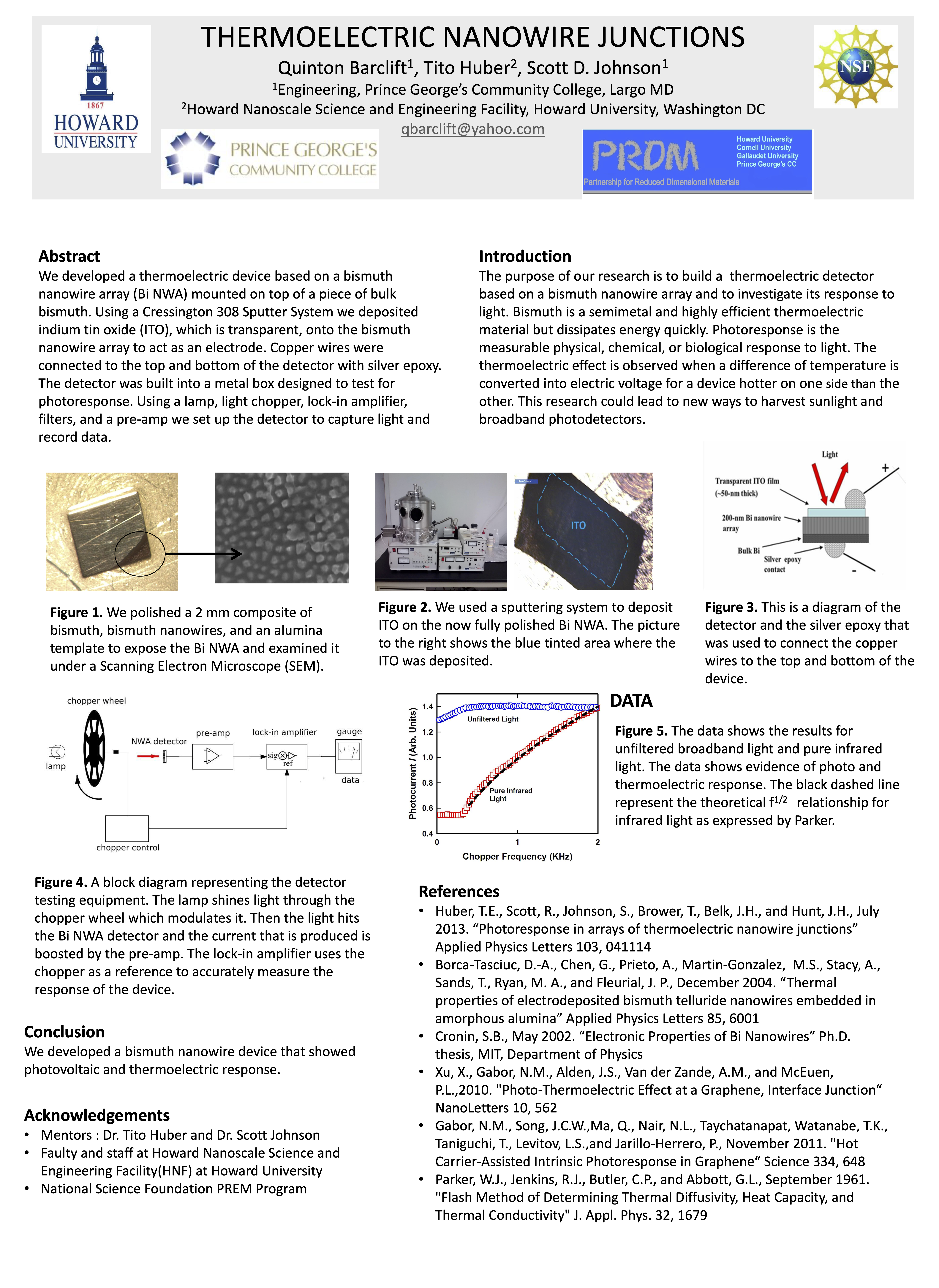 This presentation discusses one application of nanotechnology. As a bonus this presentation also included an example of a detector testing system that is a classic chopping method for getting small signal response which is important in engineering beyond nanotechnology.